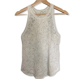 ARITZIA - WILFRED White Lace Tank Top
